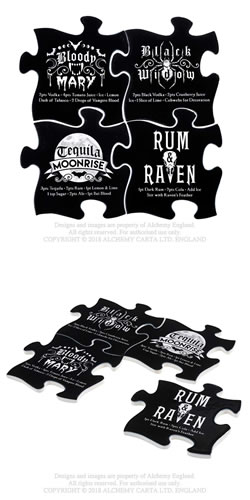 Gothic Cocktail Coaster Set