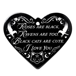 Roses are Black Heart trivet