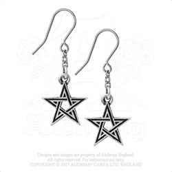 E395 - Black Star Earrings