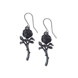 The Romance of the Black Rose Earrings
